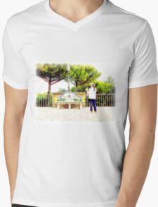 Castel Gandolfo: garden of the Villa Barberini Mens V-Neck T-Shirt