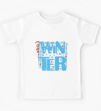 WINTER. Slogan print graphic.  Kids Tee
