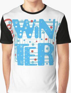 WINTER. Slogan print graphic.  Graphic T-Shirt
