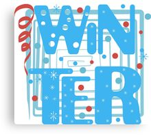 WINTER. Slogan print graphic.  Canvas Print
