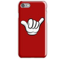 Hang loose. Surf and rock fingers iPhone Case/Skin