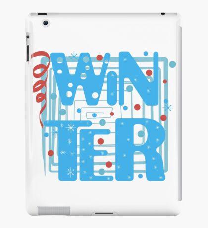 WINTER. Slogan print graphic.  iPad Case/Skin