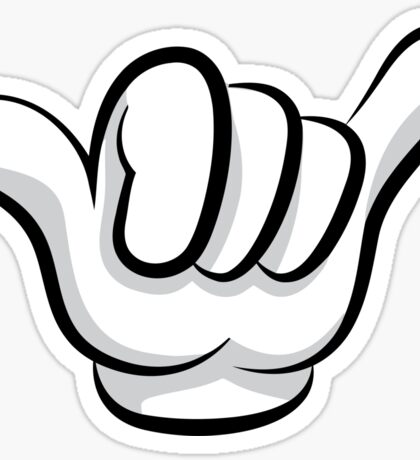 Hang loose. Surf and rock fingers Sticker