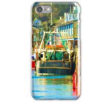 Colourful Fishing Boats at Looe Harbour iPhone Case/Skin