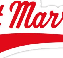 Just Married (Marriage / Wedding / Red) Sticker