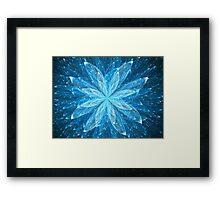 Blue Sparkling Bloom  Framed Print