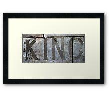 Cement King Framed Print