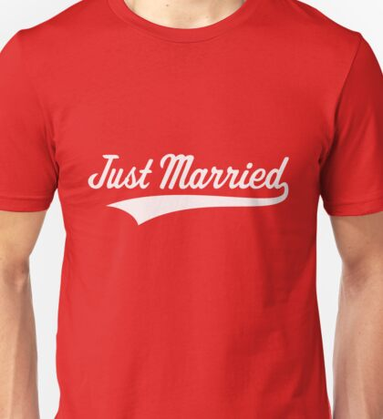 Just Married (Marriage / Wedding / White) Unisex T-Shirt