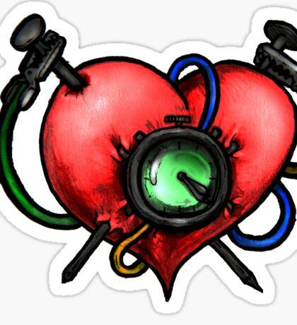 Heart Attack Sticker