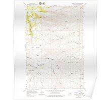 USGS Topo Map Washington State WA Whiskey Dick Mtn 244643 1966 24000 Poster