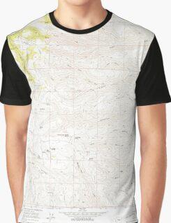 USGS Topo Map Washington State WA Whiskey Dick Mtn 244643 1966 24000 Graphic T-Shirt