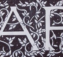 Cafe - William Morris Inspired Font by Donna Huntriss