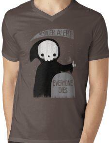 SPOILER ALERT:  EVERYONE DIES Mens V-Neck T-Shirt
