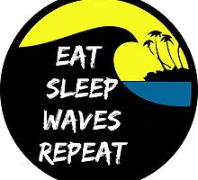 Eat sleep waves surf repeat by notonlywaves