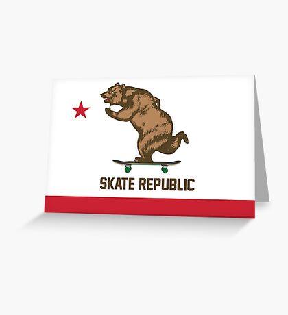 Skate Republic Greeting Card