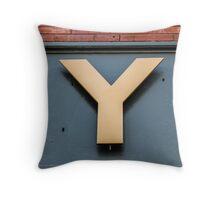 Golden Y Throw Pillow