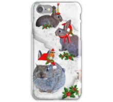 Bunnies' Christmas Party iPhone Case/Skin