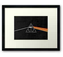 the darkside of the deathly hallows Framed Print