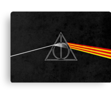 the darkside of the deathly hallows Canvas Print