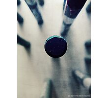 OIL PASTEL #BLUE Photographic Print