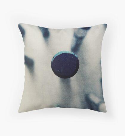 OIL PASTEL #BLUE Throw Pillow