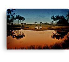 Naples,Fl. / Black White film Canvas Print