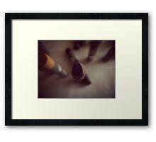 OIL PASTEL #LAVENDER Framed Print