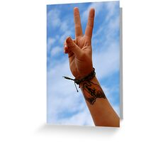 Australia Sign Of Peace Greeting Card
