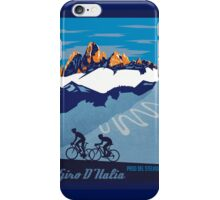Giro D' Italia Retro  Paso Del Stelvio Cycling Poster iPhone Case/Skin