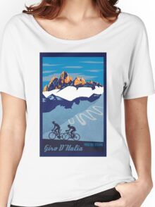 Giro D' Italia Retro  Paso Del Stelvio Cycling Poster Women's Relaxed Fit T-Shirt