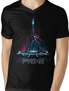 TRON-PRIME Mens V-Neck T-Shirt