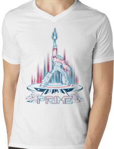 TRON-PRIME Mens V-Neck T-Shirt