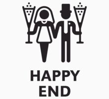 Happy End (Wedding / Marriage / Champagne / White) by MrFaulbaum