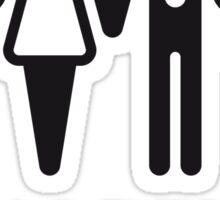 Happy End (Wedding / Marriage / Champagne / White) Sticker
