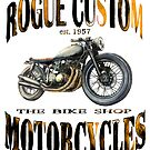 ROGUE CUSTOM BIKE SHOP T SHIRT by JohnLowerson