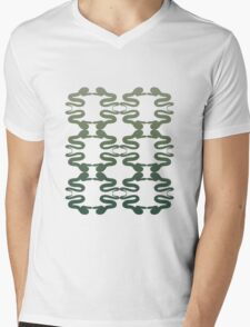 Hebi Snake Repetition  Mens V-Neck T-Shirt