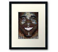 """President Obama """"Wet Paint"""" Framed Print"""
