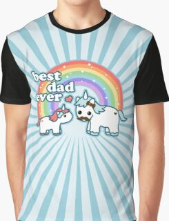 Best Unicorn Dad Graphic T-Shirt