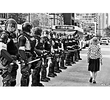 Scene from the NATO Protests (My Kind of Town...) Photographic Print