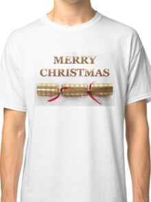 Merry Christmas Cracker in Snow Message Classic T-Shirt
