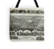 Panoramic Maps View of Annville Pennsylvania 1888 Tote Bag