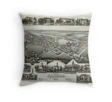 Panoramic Maps View of Annville Pennsylvania 1888 Throw Pillow