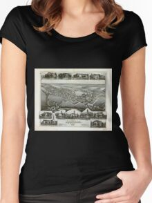 Panoramic Maps View of Annville Pennsylvania 1888 Women's Fitted Scoop T-Shirt