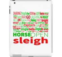 Jingle Bells Typography iPad Case/Skin