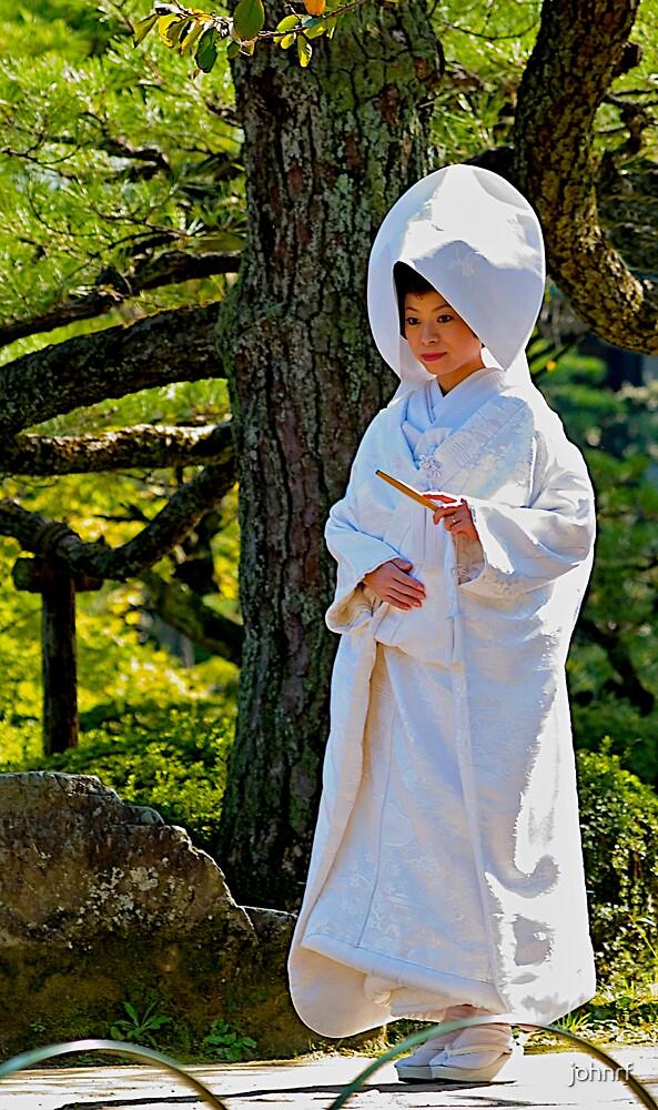 Traditional Japanese Bride, Meiji Palace grounds, Kyoto. Japan. by johnrf