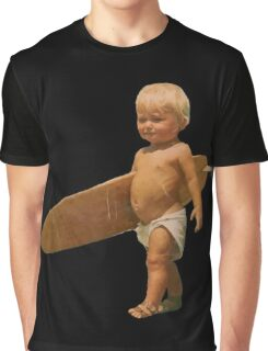 My dad thinks he's rad - Funny Baby surfer Graphic T-Shirt