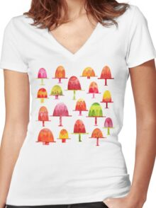 Jellies on Plates Women's Fitted V-Neck T-Shirt