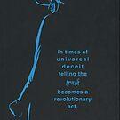 George Orwell Minimalist Quote poster by SFDesignstudio