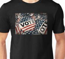 Vote Button Unisex T-Shirt