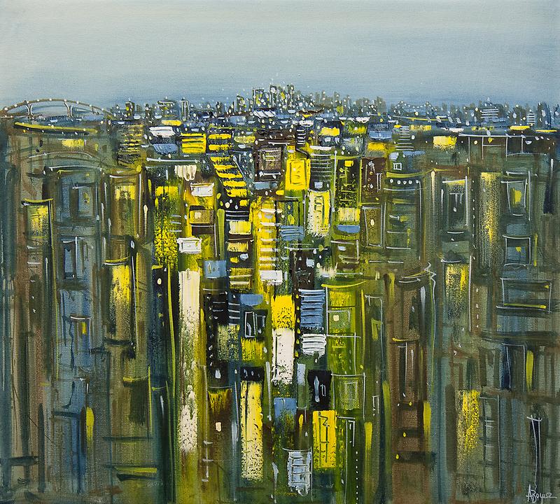 Winter skyline by Adam Bogusz